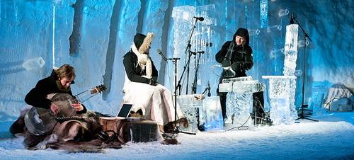 Festywal muzyki lodowej, instrumenty muzyczne z lodu