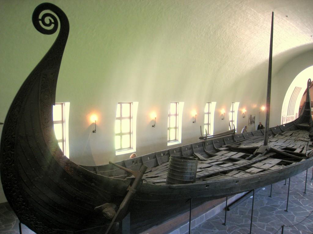 wikingowie, oseberg, okret wikingow